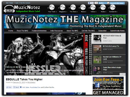 Enter The MuzicNotez Magazine